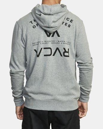 5 SWIFT HOODIE Grey V6053RSH RVCA