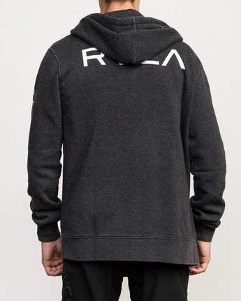 5 VA Guard Fleece Hoodie Black V605QRGH RVCA