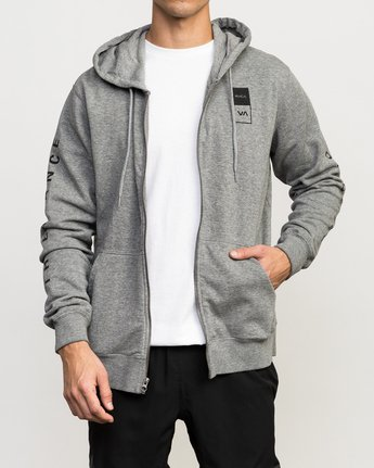 1 VA Guard Fleece Hoodie Grey V605QRGH RVCA