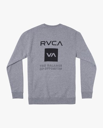 1 SPORT GRAPHIC PULLOVER SWEATSHIRT Grey V6063RSP RVCA