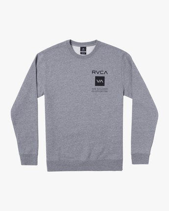 0 SPORT GRAPHIC PULLOVER SWEATSHIRT Grey V6063RSP RVCA