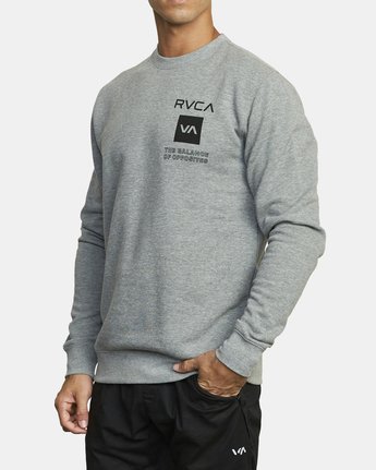 3 SPORT GRAPHIC PULLOVER SWEATSHIRT Grey V6063RSP RVCA