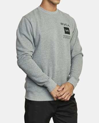 4 SPORT GRAPHIC PULLOVER SWEATSHIRT Grey V6063RSP RVCA