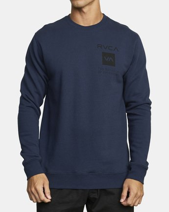 0 SPORT GRAPHIC PULLOVER SWEATSHIRT Blue V6063RSP RVCA