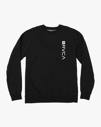 0 Reverted Crew Sweatshirt Black V622TRRR RVCA