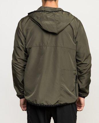 5 Axe Packable Jacket Green V701QRAX RVCA