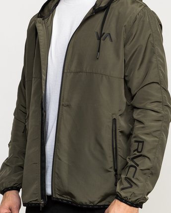 6 Axe Packable Jacket Green V701QRAX RVCA