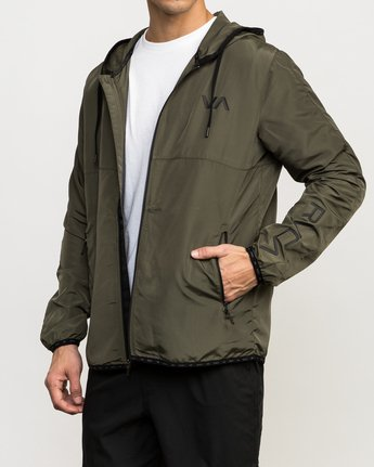 3 Axe Packable Jacket Green V701QRAX RVCA