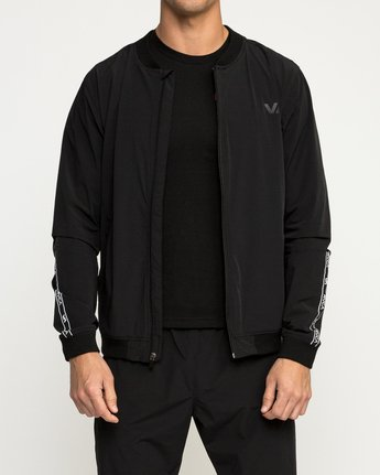 2 VA Resin Bomber Jacket Black V701SRRB RVCA