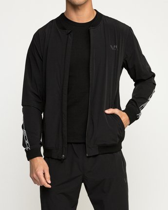 3 VA Resin Bomber Jacket Black V701SRRB RVCA