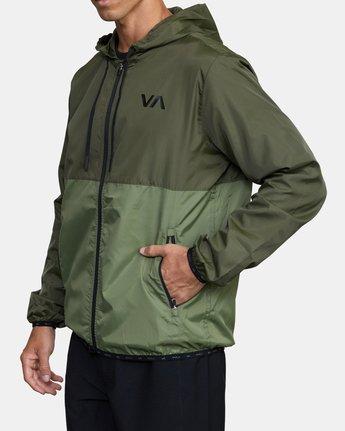 2 HEXSTOP IV JACKET Green V701TRHP RVCA