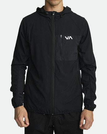 1 YOGGER TRACK JACKET (Previous Season) Black V7021RYJ RVCA