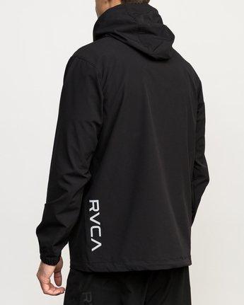 4 VA Anorak Jacket Black V702QRAN RVCA
