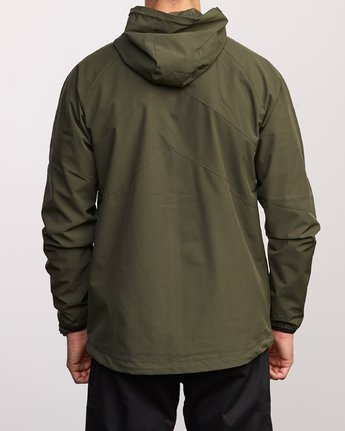 6 VA Windbreaker Jacket Green V705TRWI RVCA