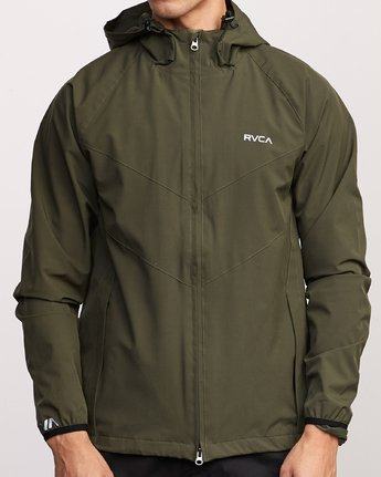 8 VA Windbreaker Jacket Green V705TRWI RVCA