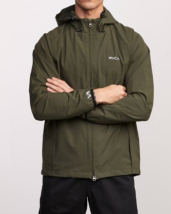1 VA Windbreaker Jacket Green V705TRWI RVCA