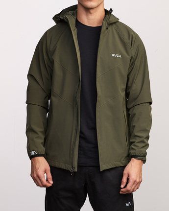 2 VA Windbreaker Jacket Green V705TRWI RVCA
