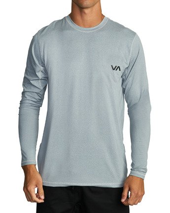 5 SPORT VENT LONG SLEEVE TEE Grey V9011RSV RVCA