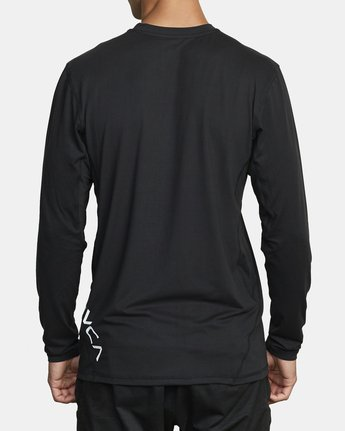 2 SPORT VENT LONG SLEEVE TEE Black V9011RSV RVCA