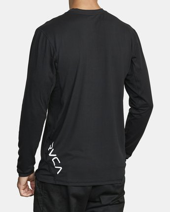 4 SPORT VENT LONG SLEEVE TEE Black V9011RSV RVCA