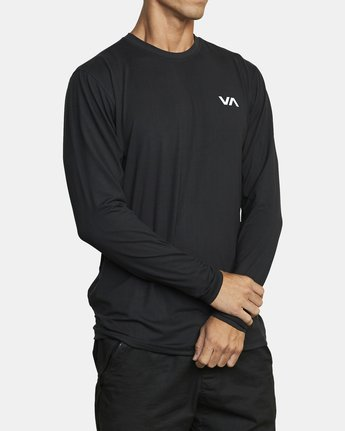 5 SPORT VENT LONG SLEEVE TEE Black V9011RSV RVCA