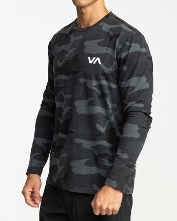 4 SPORT VENT LONG SLEEVE TEE Brown V9011RSV RVCA