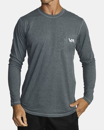 0 SPORT VENT LONG SLEEVE TEE Brown V9011RSV RVCA