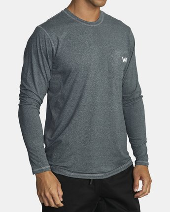 1 SPORT VENT LONG SLEEVE TEE Brown V9011RSV RVCA