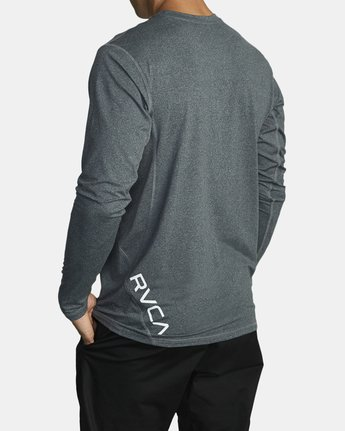 2 SPORT VENT LONG SLEEVE TEE Brown V9011RSV RVCA