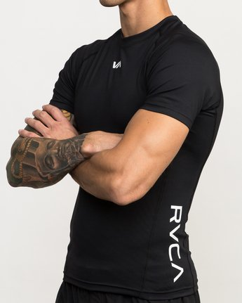 4 VA Performance Short Sleeve Shirt Black V901QRCS RVCA