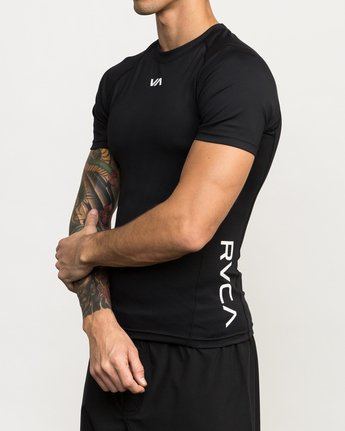 2 VA Performance Short Sleeve Shirt Black V901QRCS RVCA