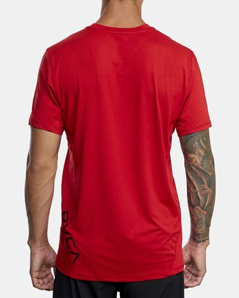 3 SPORT VENT SHORT SLEEVE TEE Red V9021RSV RVCA
