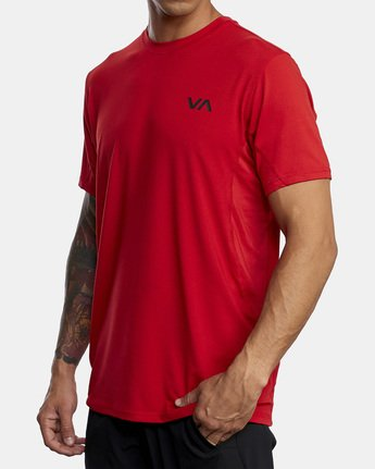 4 SPORT VENT SHORT SLEEVE TEE Red V9021RSV RVCA