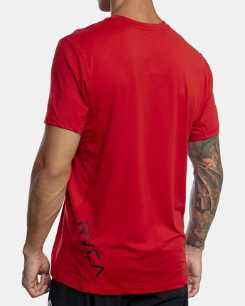 5 SPORT VENT SHORT SLEEVE TEE Red V9021RSV RVCA