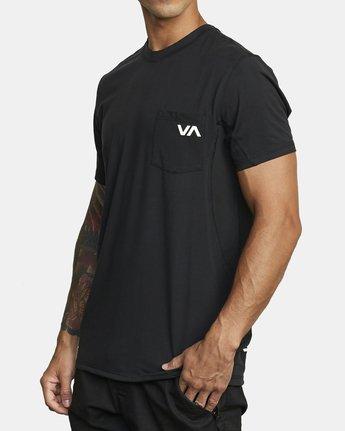 4 SPORT VENT SHORT SLEEVE TEE Black V9021RSV RVCA