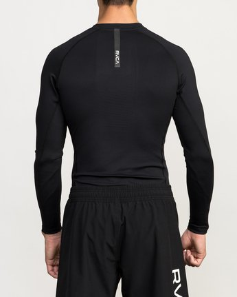 4 VA Performance Long Sleeve Shirt Black V902QRCL RVCA