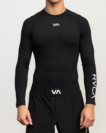 1 VA Performance Long Sleeve Shirt Black V902QRCL RVCA