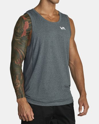 4 SPORT VENT TANK TOP Brown V9031RST RVCA