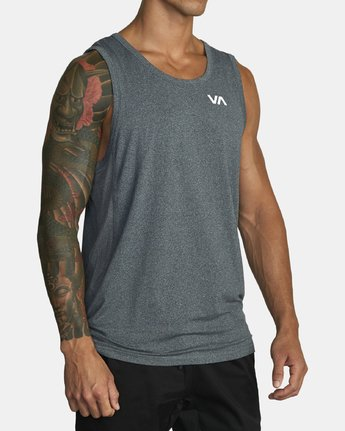 7 SPORT VENT TANK TOP Brown V9031RST RVCA
