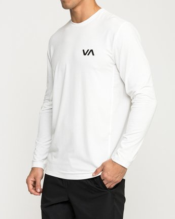 3 VA Vent Long Sleeve Top White V903QRVL RVCA