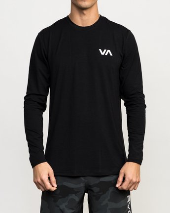 1 VA Vent Long Sleeve Top Black V903QRVL RVCA