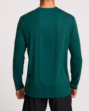 4 VA Vent Long Sleeve Top Green V903QRVL RVCA