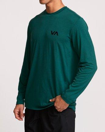 3 VA Vent Long Sleeve Top Green V903QRVL RVCA