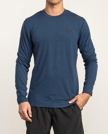 2 VA Vent Long Sleeve Top Blue V903QRVL RVCA