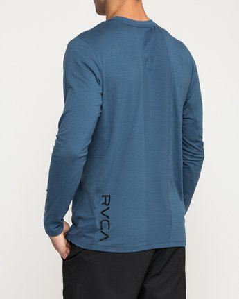 4 VA Vent Long Sleeve Top Blue V903QRVL RVCA