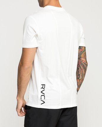 4 VA Vent Short Sleeve Top White V904QRVS RVCA