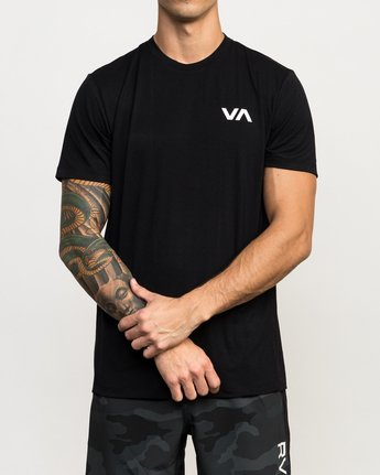 1 VA Vent Short Sleeve Top Black V904QRVS RVCA