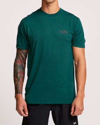1 VA Vent Short Sleeve Top Green V904QRVS RVCA