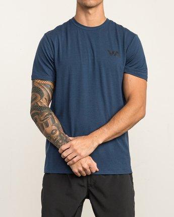 2 VA Vent Short Sleeve Top Blue V904QRVS RVCA