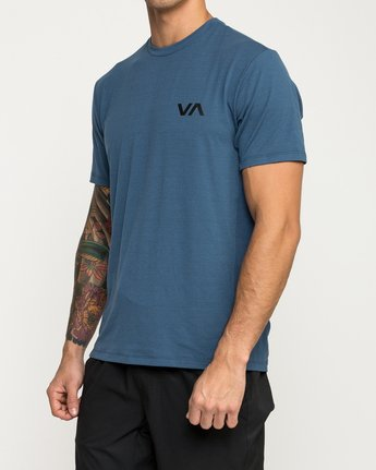 3 VA Vent Short Sleeve Top Blue V904QRVS RVCA